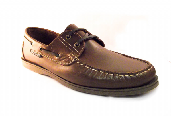 Yachtsman mens tan leather deck shoe up to size 14